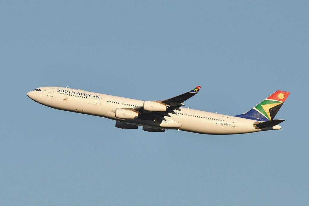 South African Airways ZS SXE Airbus A340 313 at Washington Dulles International Airport