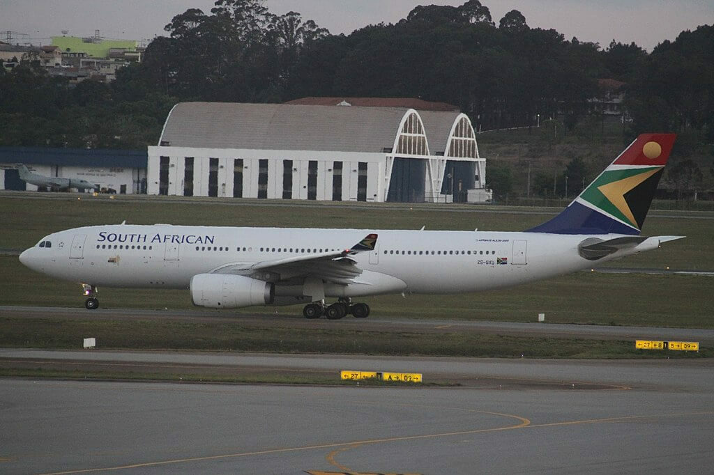 South African Airways ZS SXU Airbus A330 243 at São Paulo Guarulhos International Airport