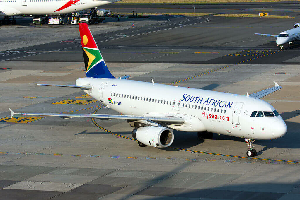 South African Airways ZS SZB Airbus A320 232