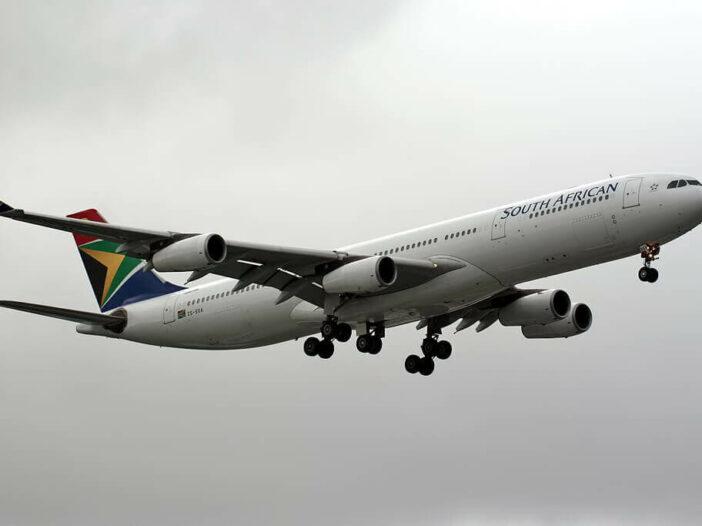 ZS SXA Airbus A340 313 South African Airways at London Heathrow Airport