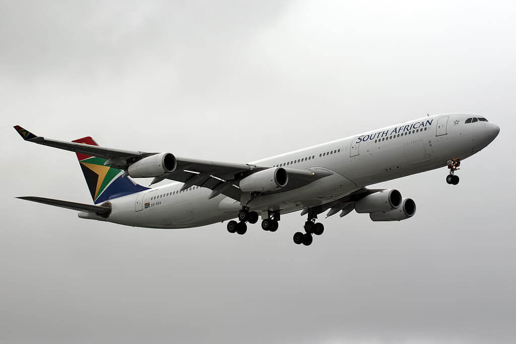 ZS SXA Airbus A340 313 South African Airways at London Heathrow Airport