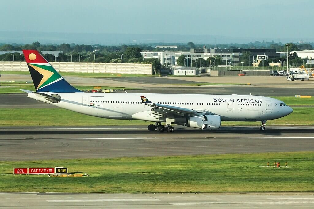 ZS SXV Airbus A330 243 South African Airways at London Heathrow Airport
