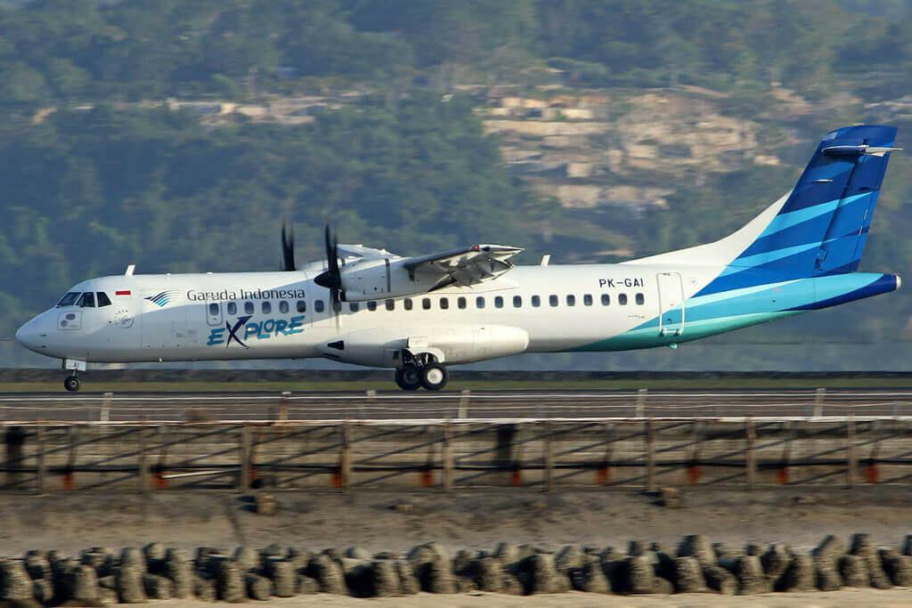 Garuda Indonesia Explore PK GAI ATR 72 600 72 212A at I Gusti Ngurah Rai Airport Denpasar Bali