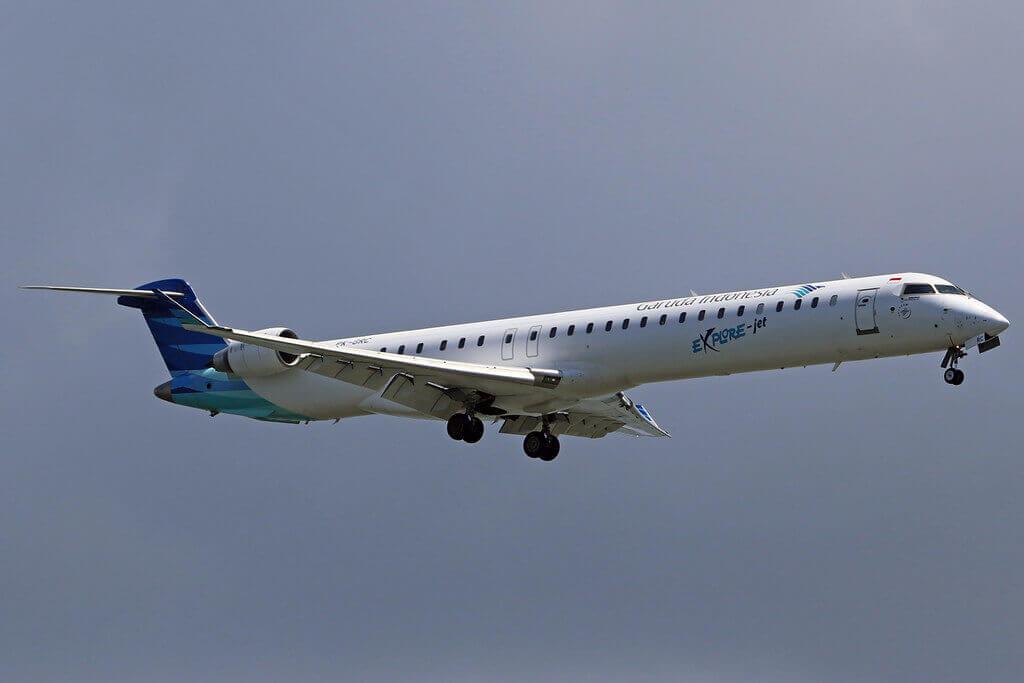 Garuda Indonesia Explore PK GRC Bombardier CRJ 1000ER CL 600 2E25