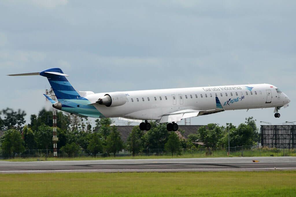 Garuda Indonesia Explore PK GRE Bombardier CRJ 1000ER CL 600 2E25