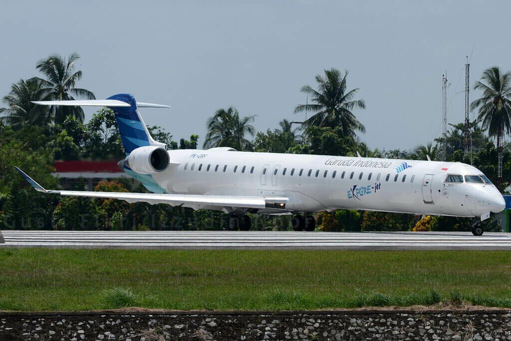 Garuda Indonesia Explore PK GRF Bombardier CRJ 1000ER CL 600 2E25