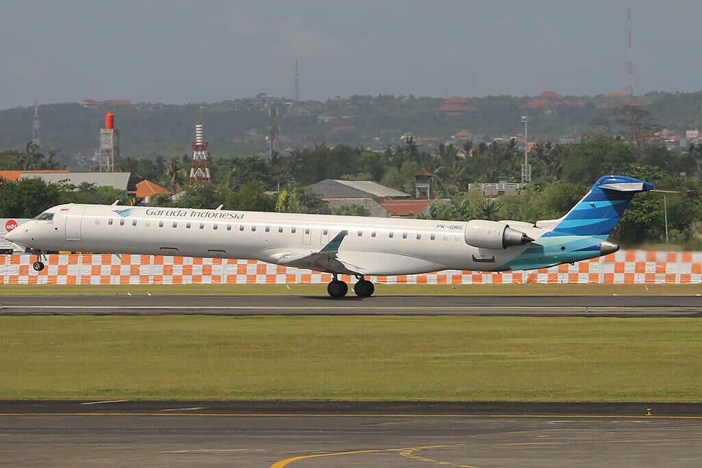 Garuda Indonesia Explore PK GRG Bombardier CRJ 1000ER CL 600 2E25 at Denpasar Airport