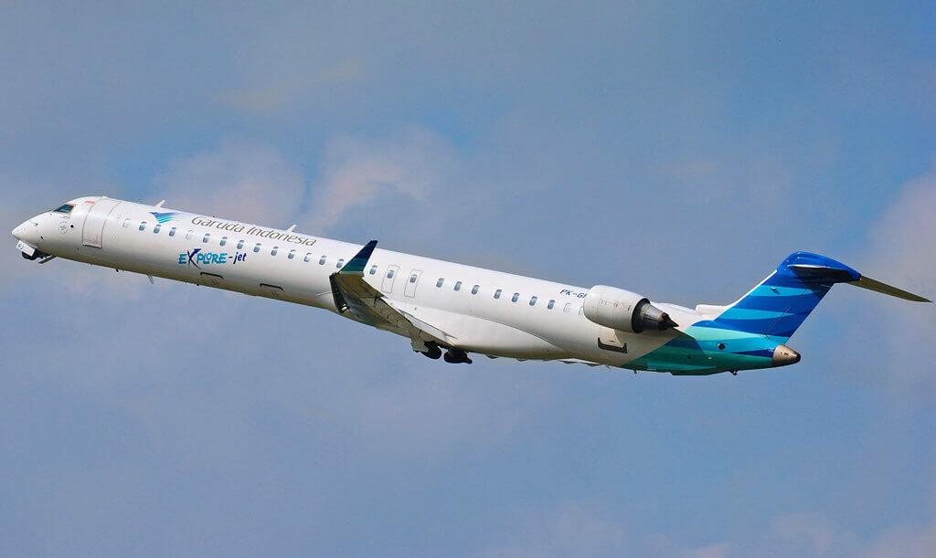 Garuda Indonesia Explore PK GRJ Bombardier CRJ 1000ER CL 600 2E25