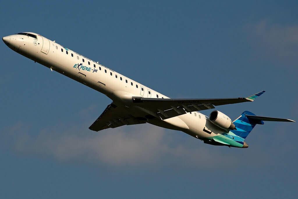Garuda Indonesia Explore PK GRK Bombardier CRJ 1000ER CL 600 2E25