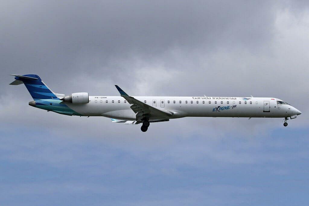 Garuda Indonesia Explore PK GRM Bombardier CRJ 1000ER CL 600 2E25