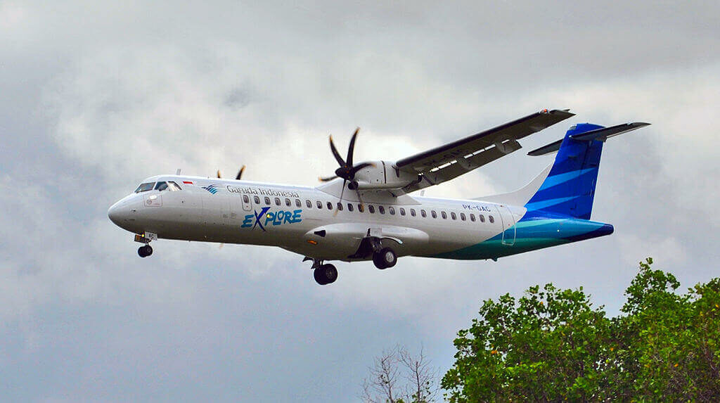 Garuda Indonesia PK GAC ATR 72 600 72 212A landing at I Gusti Ngurah Rai International Airport