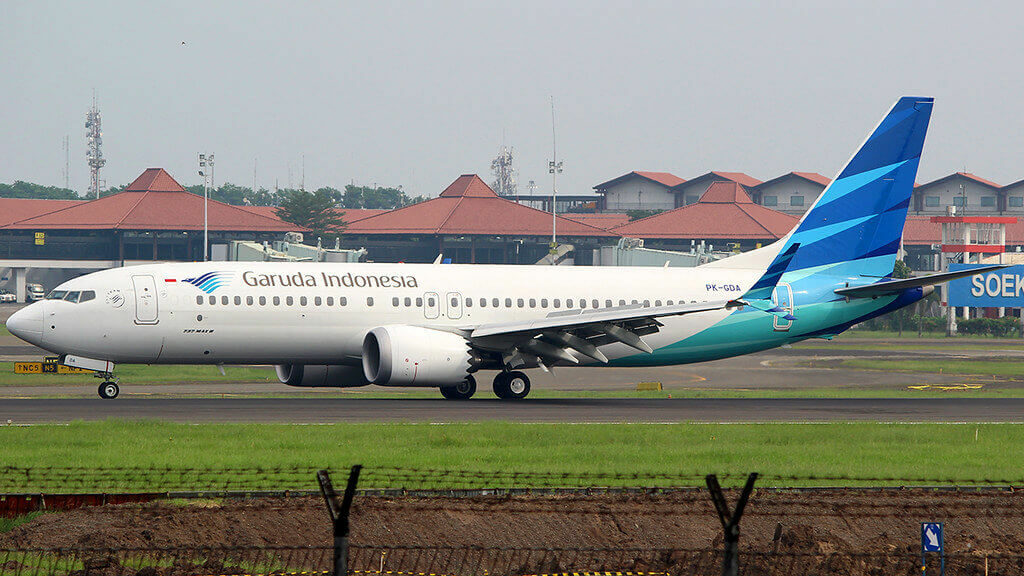 Garuda Indonesia PK GDA Boeing 737 8 MAX at CGK Airport