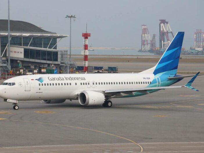 Garuda Indonesia PK GDA Boeing 737 MAX 8 at Hongkong International Airport