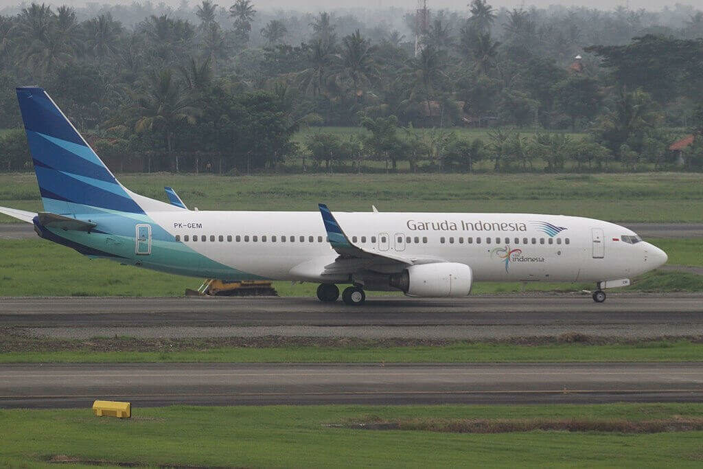 Garuda Indonesia PK GEM Boeing 737 8ASWL at Soekarno Hatta International Airport