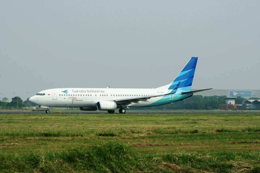 Garuda Indonesia PK GEN Boeing 737 8ASWL at CGK Airport