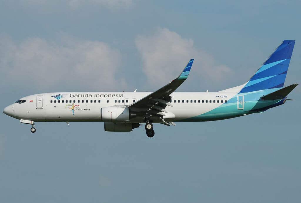 Garuda Indonesia PK GFA Boeing 737 86NWL at Singapore Changi Airport