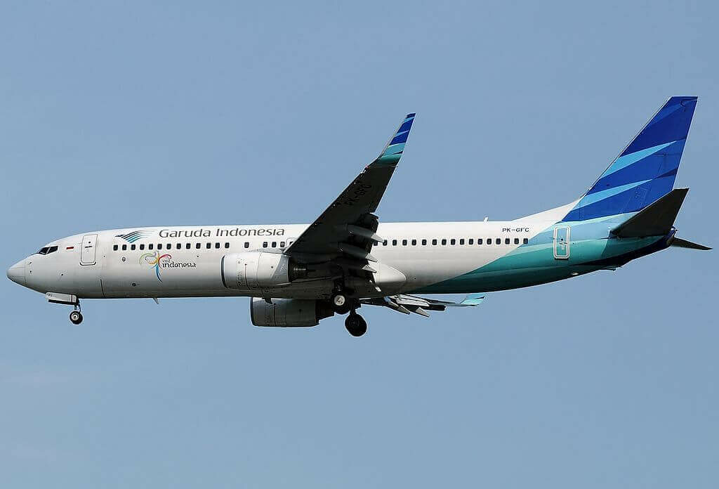 Garuda Indonesia PK GFC Boeing 737 86NWL at Singapore Changi Airport