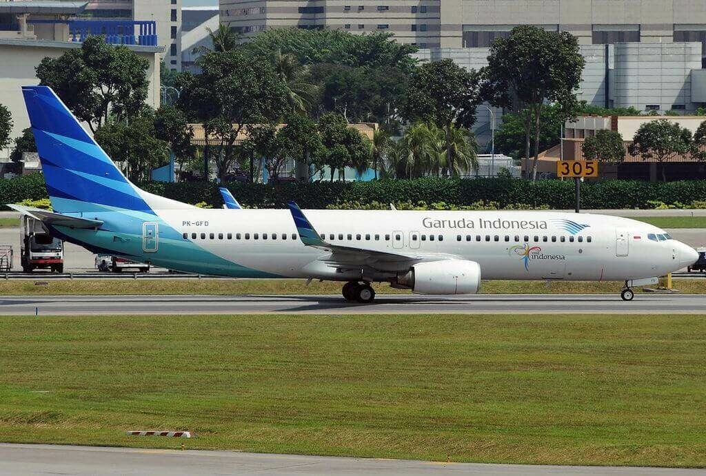 Garuda Indonesia PK GFD Boeing 737 8U3WL at Singapore Changi Airport