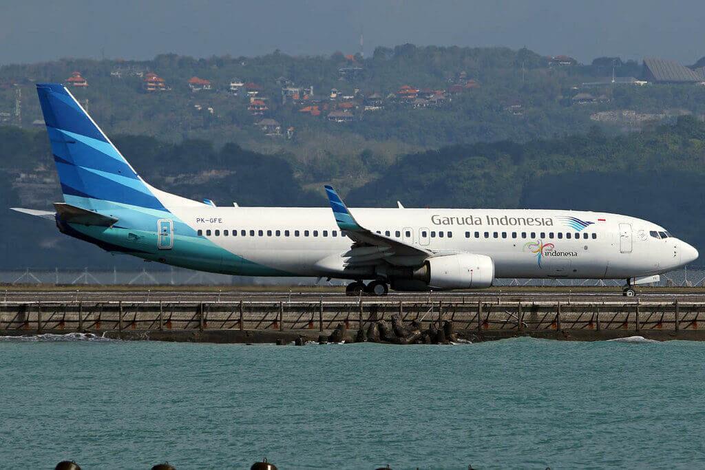 Garuda Indonesia PK GFE Boeing 737 86NWL at I Gusti Ngurah Rai Airport Denpasar Bali