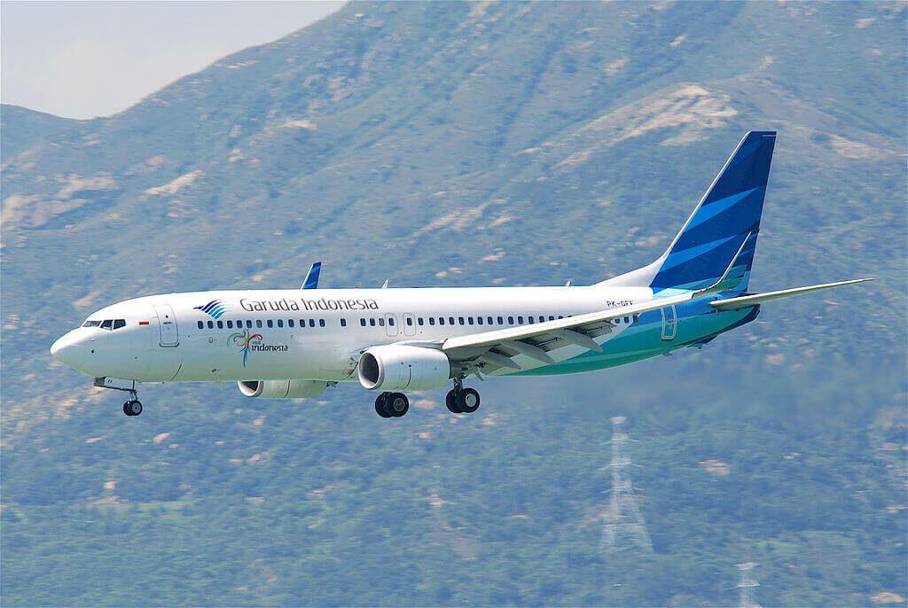 Garuda Indonesia PK GFF Boeing 737 8U3WL at Hong Kong International Airport