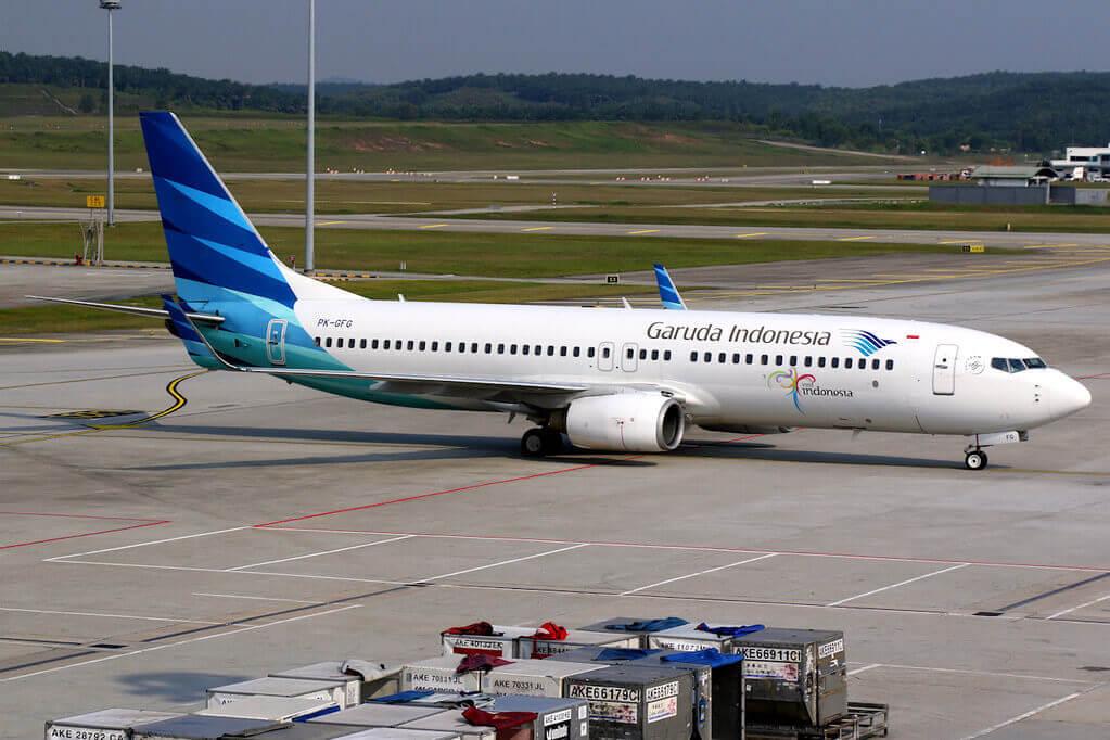 Garuda Indonesia PK GFG Boeing 737 8BKWL at Kuala Lumpur International Airport