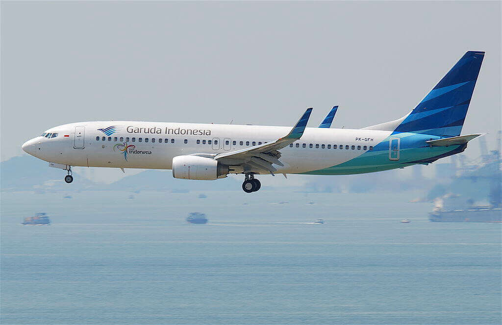 Garuda Indonesia PK GFH Boeing 737 8U3WL at Hong Kong International Airport