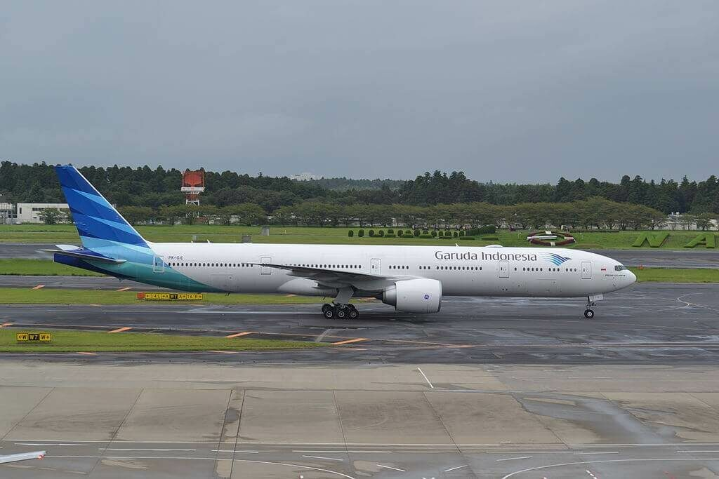 Garuda Indonesia PK GIC Boeing 777 3U3ER at Narita International Airport