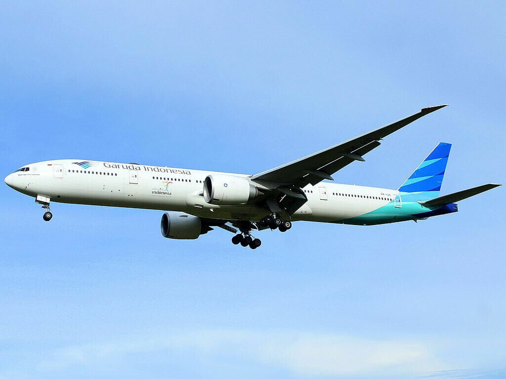 Garuda Indonesia PK GID Boeing 777 3U3ER at Sultan Iskandar Muda International Airport