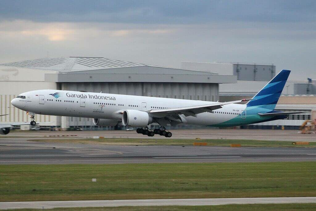 Garuda Indonesia PK GIF Boeing 777 3U3ER at London Heathrow Airport