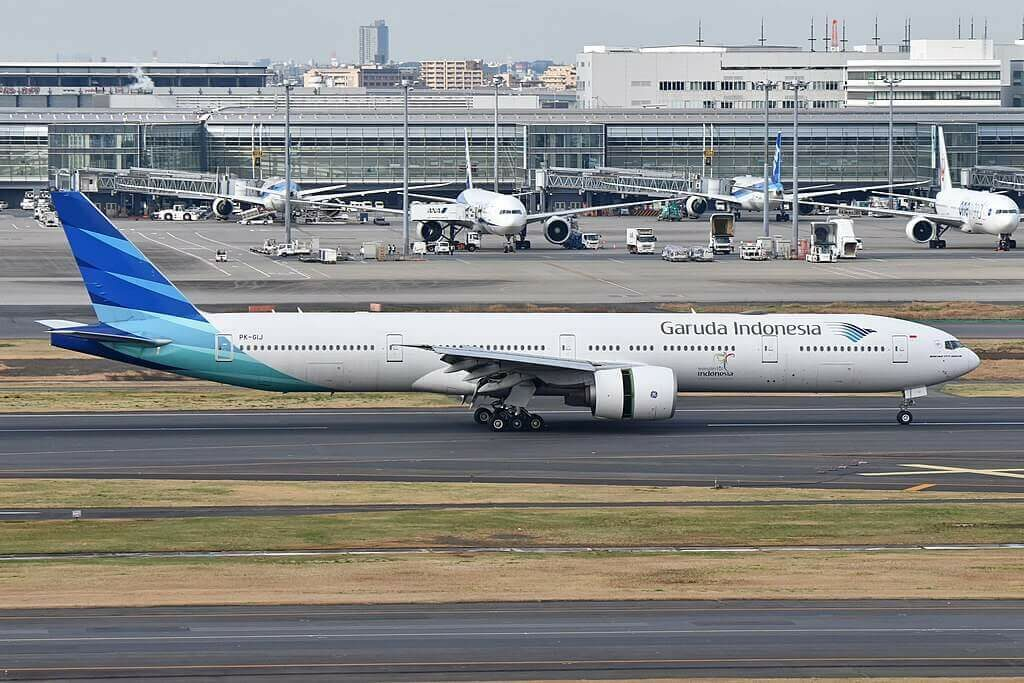 Garuda Indonesia PK GIJ Boeing 777 3U3ER at Tokyo International Airport