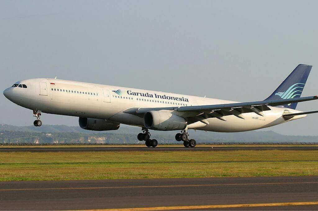 Garuda Indonesia PK GPC Airbus A330 341 at Ngurah Rai Airport Denpasar Bali
