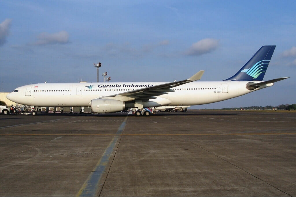 Garuda Indonesia PK GPE Airbus A330 341 at Ngurah Rai Airport