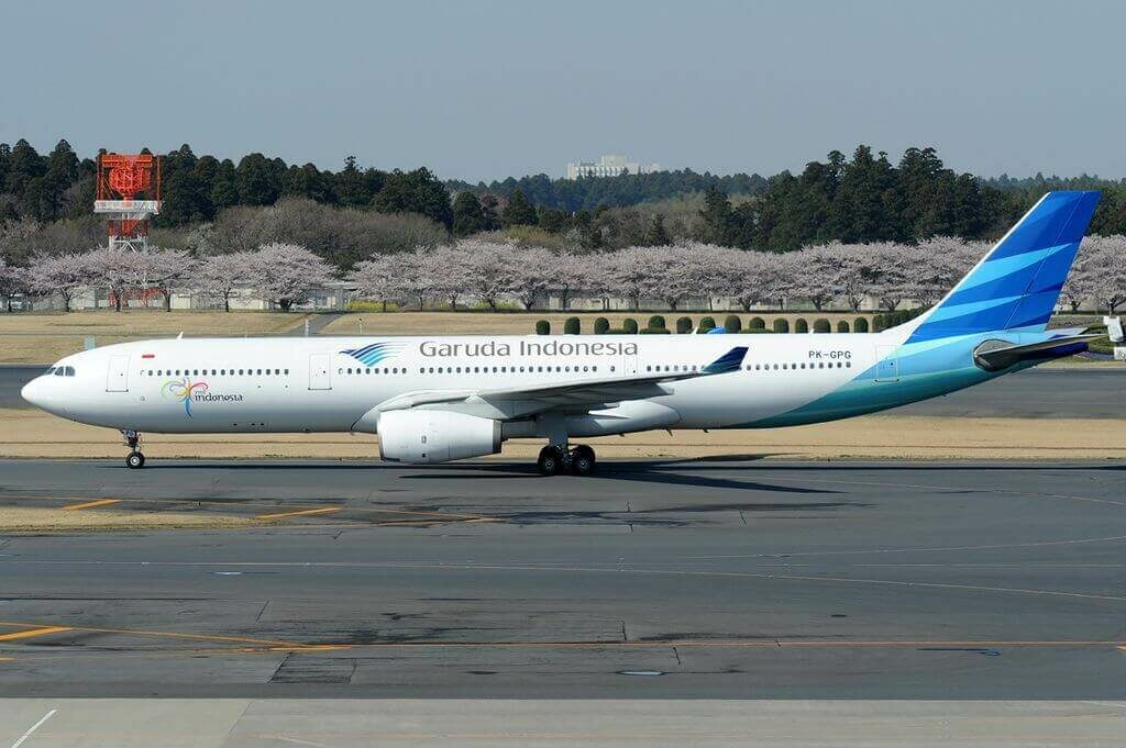 Garuda Indonesia PK GPG Airbus A330 341 at Narita International Airport