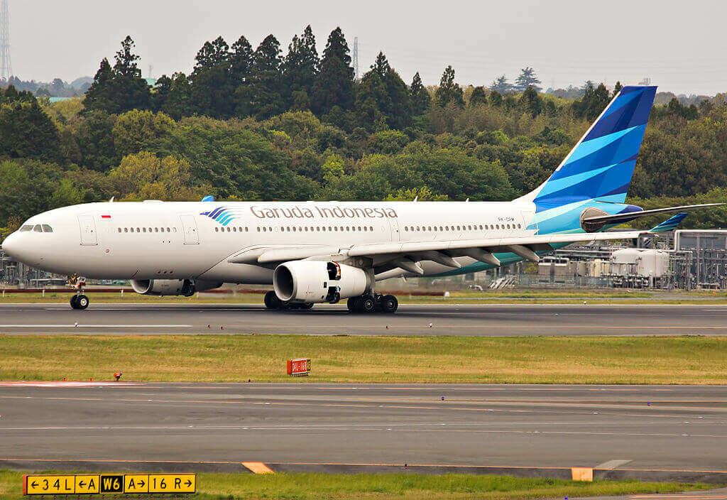 Garuda Indonesia PK GPM Airbus A330 243 at Narita International Airport