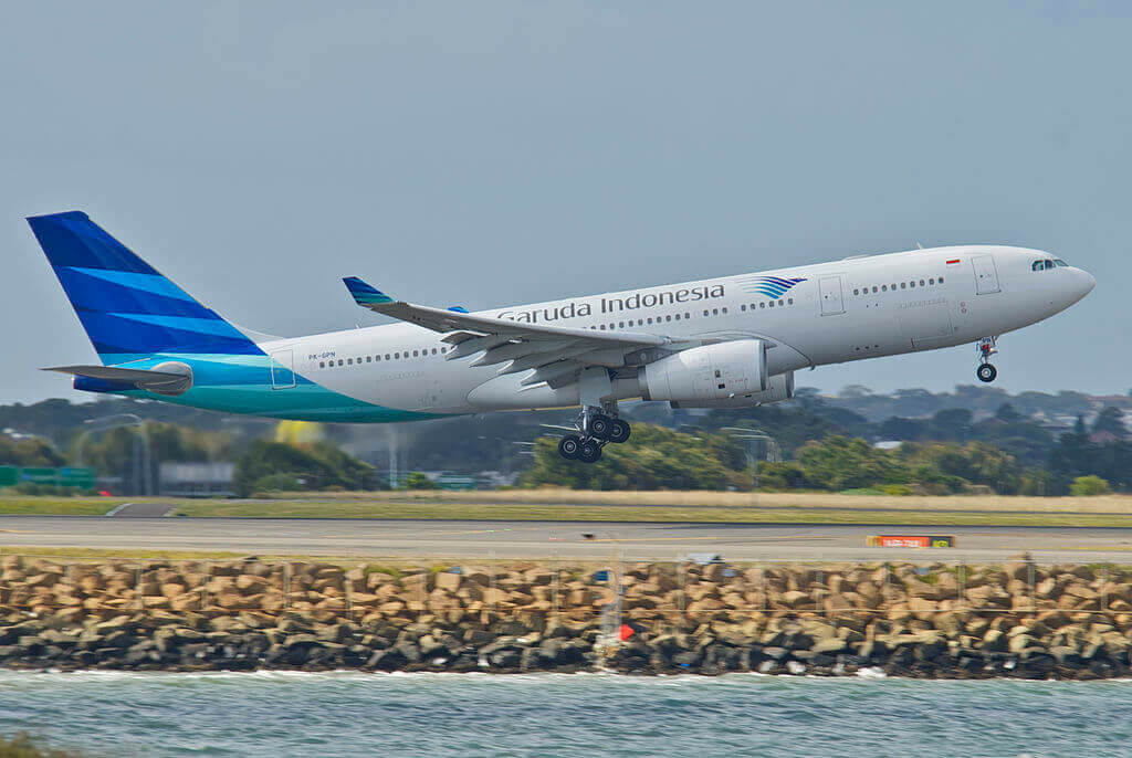 Garuda Indonesia PK GPN Airbus A330 243 at Sydney Airport