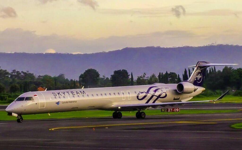 Garuda Indonesia PK GRA Skyteam Livery Bombardier CRJ 1000ER CL 600 2E25