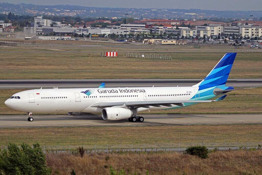 Garuda Indonesian PK GPR Airbus A330 343 at Toulouse Blagnac International Airport
