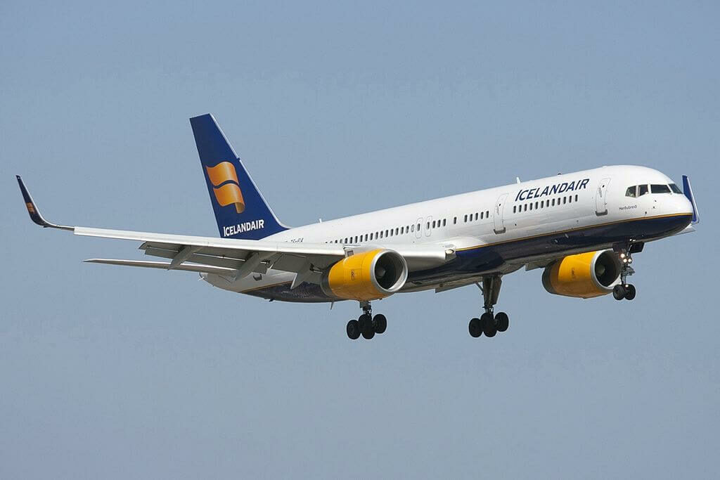Icelandair TF FIA Boeing 757 256WL Herdubreid at Faro Airport