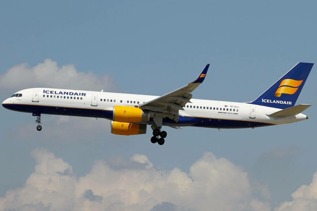 Icelandair TF FIJ Boeing 757 208WL Surtsey at Frankfurt Airport