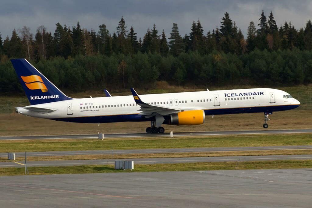 Icelandair TF FIK Boeing 757 256WL Bláfjall at Oslo Airport Gardermoen