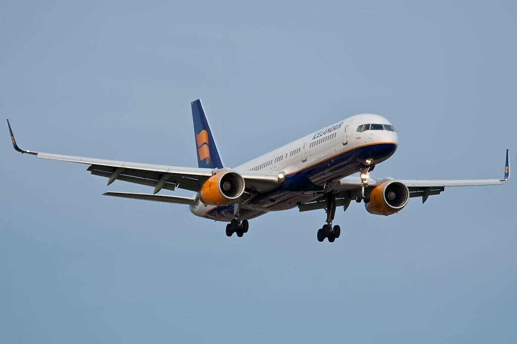 Icelandair TF FIO Boeing 757 208WL Krafla at London Heathrow Airport