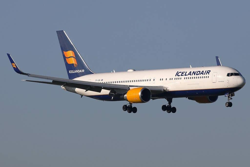 Icelandair TF ISN Boeing 767 319ERWL Svörtuborgir at Amsterdam Schiphol Airport
