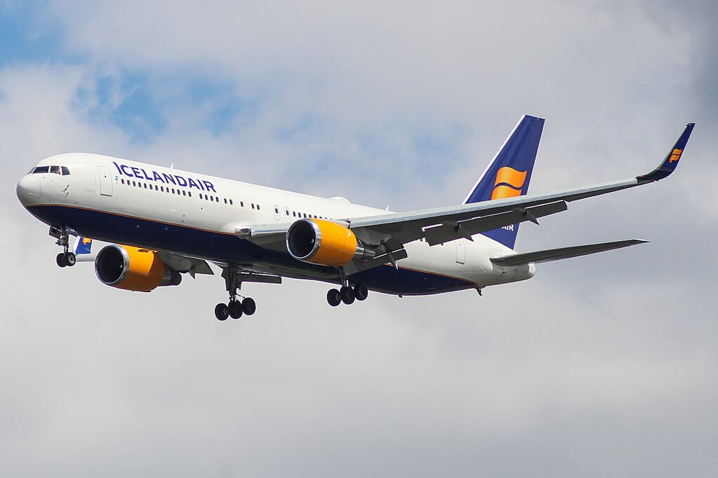 Icelandair TF ISW Boeing 767 319ERWL Gullborg at London Heathrow Airport