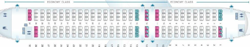 QantasLink Airbus A320 200 Seating Plan