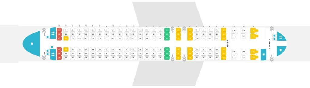 Seat Map and Seating Chart Airbus A320 200 V2 156 Seats Philippine Airlines PAL
