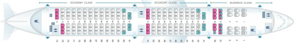 Seat Map and Seating Chart Airbus A321neo Philippine Airlines PAL