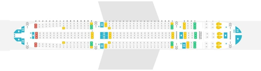 Seat Map and Seating Chart Airbus A330 300 Layout 363 Seats Philippine Airlines PAL