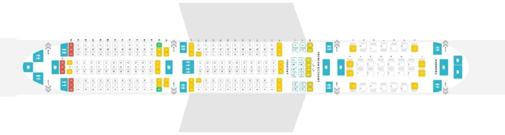 Seat Map and Seating Chart Airbus A350 900 Philippine Airlines PAL