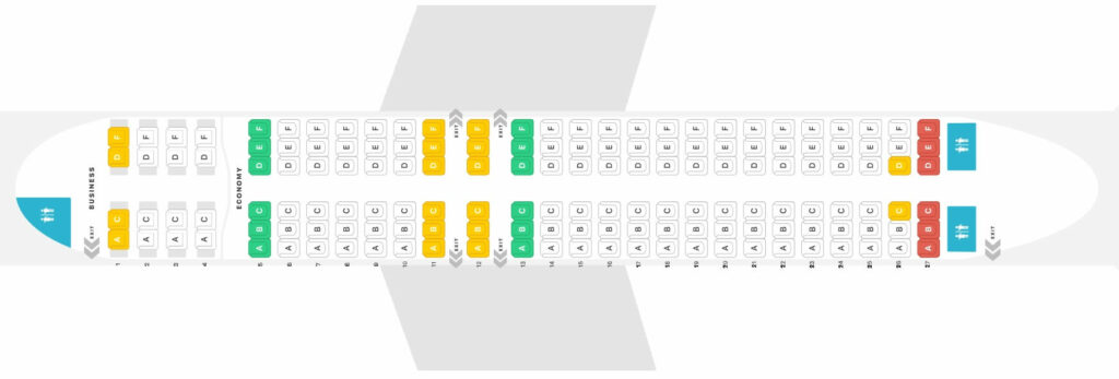 Seat Map and Seating Chart Boeing 737 800 Caribbean Airlines