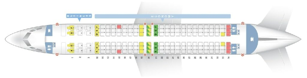 Seat Map and Seating Chart Boeing 737 800 Layout 156 Seats Oman Air